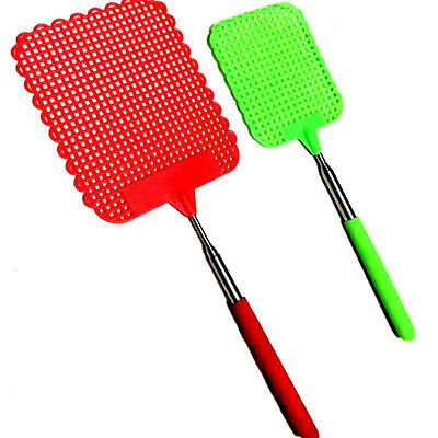 1Pc Small Size Flyswatter Retractable Kill Mosquitoes Flies Telescopic Plastic