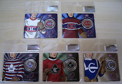 MONTREAL CANADIENS CENTENNNIAL 2009 50 CENTS COINS ***No 2-3-4-5-6 set***