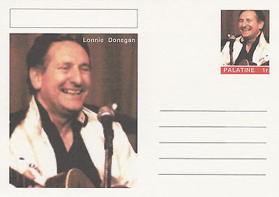 CINDERELLA - 4627 - LONNIE DONEGAN on Fantasy Postal Stationery card