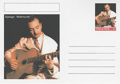 CINDERELLA - 4632 - DJANGO REINHARDT  on Fantasy Postal Stationery card