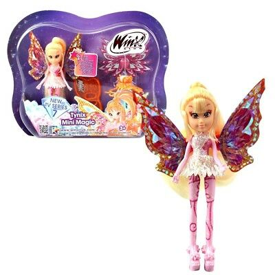 Winx Club - Tynix Mini Magic Puppe - Fee Stella mit Verwandlungsfunktion