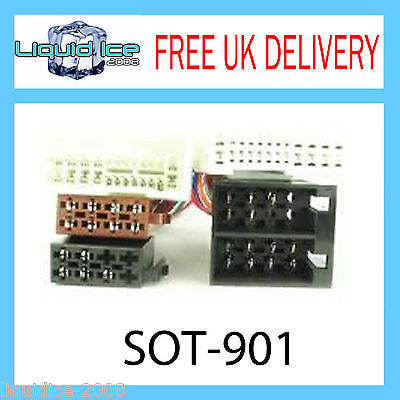 Sot-901 For Kia Carens 2005 Onwards Iso Parrot Harness Adaptor Cable Loom Lead