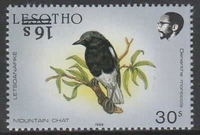Lesotho 4648 -  1990 BIRDS 16s on 30s with SURCHARGE INVERTED unmounted mint