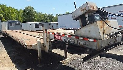 1996 Trail-Eze 48' Container Frame Trailer 12k Lb Cable Winch Flat Bed Hauler