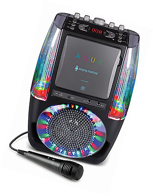 Singing Machine SML605BK AGUA Dancing Water Fountain Bluetooth Karaoke System