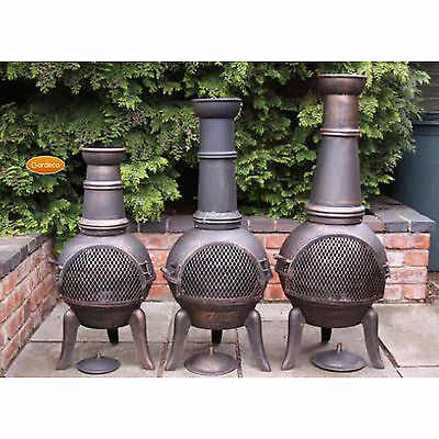 Gardeco GRANADA Cast Iron Chiminea Chimenea Outdoor Garden Patio Heater Fire Pit