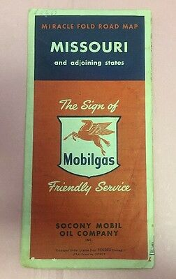 BP005 Missouri And Adjoining States Mobilgas Friendly Service Road Map