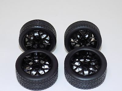 1/18 AB Models Wheels and Tires Set Sky Forged Wheels Gloss Black