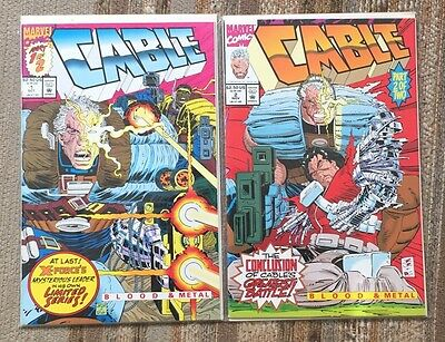 Cable - Blood and Metal #1 And #2 (Oct 1992, Marvel)