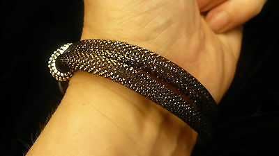 Eastern Star white cord & bead bracelet OES NEW COPPER / BRONZE snap bead