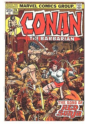 Conan the Barbarian #24 (1970 Series) 1st Full Red Sonja Story Marvel 1973 FN