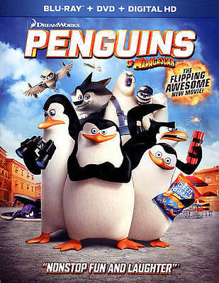 Penguins of Madagascar (Blu-ray/DVD, 2015, 2-Disc Set, Digital Copy) NEW
