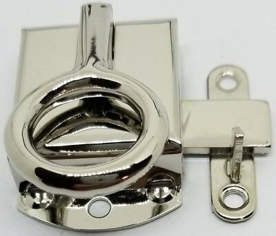 Left Hand Napanee Cabinet Latch - Nickel Plated - Hoosier Sellers antique vin...
