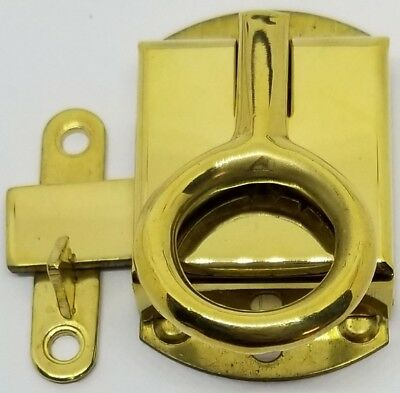 Right Hand Napanee Cabinet Latch - Brass - Hoosier Sellers antique vintage re...