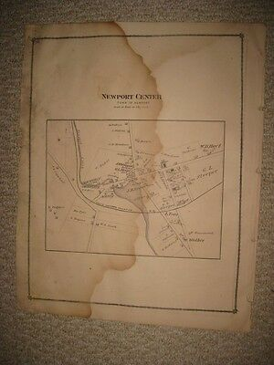 Antique 1878 Newport Beebe Plain West Derby Orleans County Vermont Map