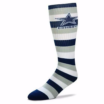 NFL Dallas Cowboys Striped Knee High Hi Tube Socks One Size Fits Most Adults