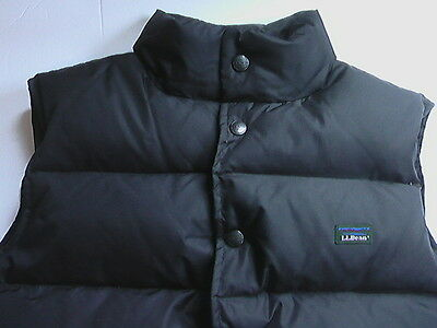 LL Bean Goose Down Vest Kids M 10-12 Boys Girls Black Puffer