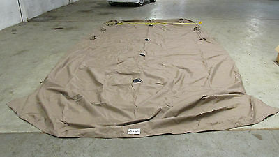 18ft Pontoon playpen cover, Brown, no snaps, with vents, no poles,