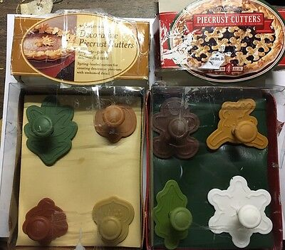 WILLIAMS-SONOMA lot of 8 Piecrust cutters Fall and Christmas