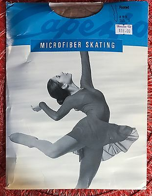 1814 Capezio Footed Microfiber Skating Opaque Tights Sz Small NEW in Package