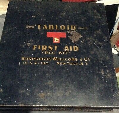 1941 Vintage Tabloid First Aid Kit NY School Bus New York Full Original Contents