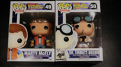 POP Vinyl Back to the Future (Movies) Sealed New Hard To Find 49-50 / BTTF (Set)