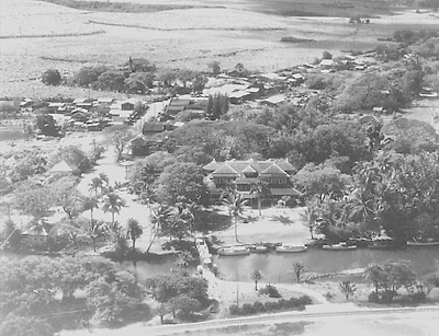 Haleiwa Hotel Aerial 1920? 20X30 Inch Black & White Giclee Photo Unmounted