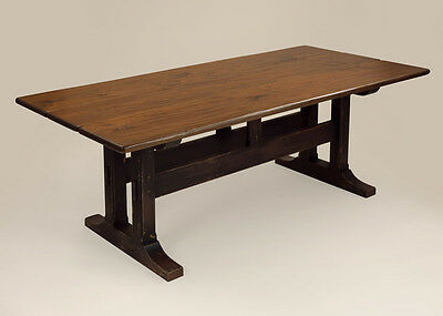9ft Dining Room Country Table Farmhouse Style Wooden Pennsylvania Made in USA