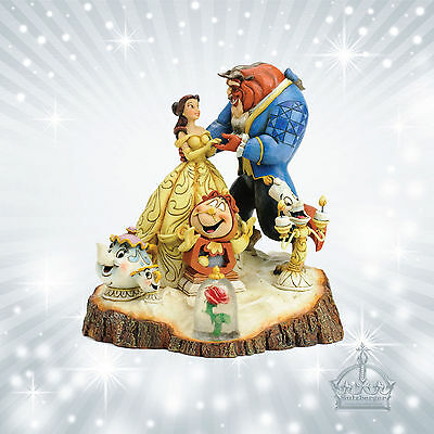 Schöne & Biest  Jim Shore Disney Traditions Carved  Heart Beauty Beast  4031487