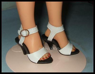 WHITE Ankle Strap High Heel Sandals Doll SHOES for Miss Revlon CISSY Dollikins