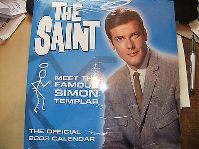 ROGER MOORE THE TV SAINT 2003 CALENDAR SEALED ITC James bond The Persuaders
