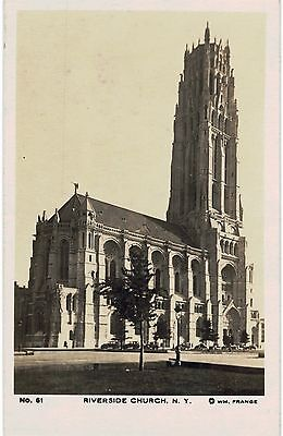 New York City NYC RPPC Riverside Church 1910 Unused