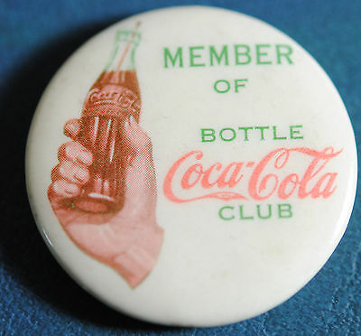 1930 Coca Cola Celluloid Pon Pinback In Nm Condition