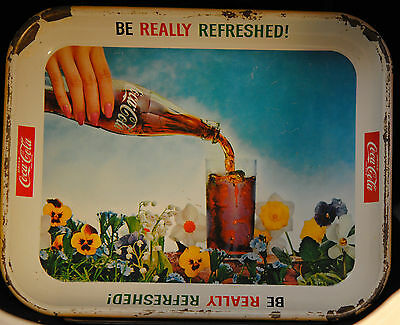 Vintage 1961 Coca Cola tray Be Really Refreshed