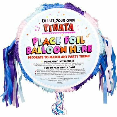 Pastel Pull-String Blank Pinata (Each) - Party Supplies