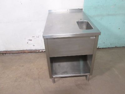 HEAVY DUTY COMMERCIAL 100% STAINLESS STEEL SERVICE COUNTER/TABLE w/WASH SINK
