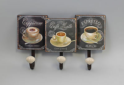 hook - Strip Wardrobe Metal Coffee cups Vintage Shabby Chic a2-73162