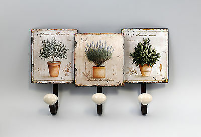 hook - Strip Wardrobe Metal Flower pots Vintage Shabby Chic a2-73170