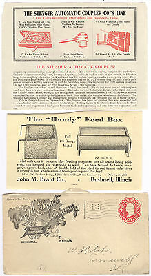 Group Of 1911 Advertising, John M. Brant Co. Bushnell, Il. Threshers Supplies?