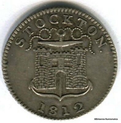 GREAT BRITAIN Durham Stockton Silver 1812 Shilling Token Dalton 2 Inv 2867