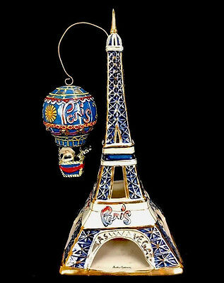 Paris Las Vegas Eiffel Tower Tealight Holder Blue Sky Clayworks Heather Goldmine
