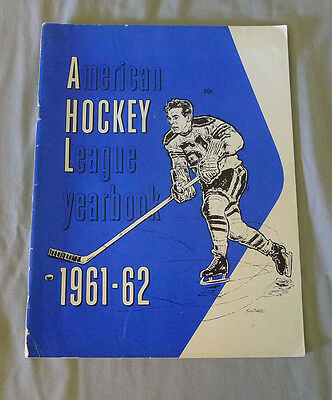 Original Rare 1961-62  AHL American Hockey League Official Yearbook