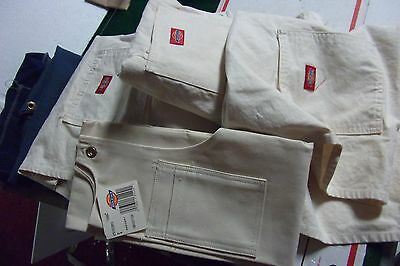 This Is A LOT OF 8 WORK APRONS 4 N.NEW CARTER TOOL & DIE White 4 other work blue