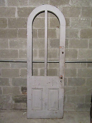 ~ Antique Door With Full Arched Top 29.75 X 89.5 ~ Architectural Salvage ~