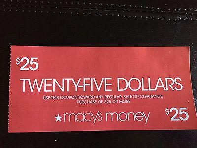 Lot of 2 $25 Macy's Gift Card/Certificates