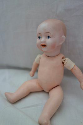 "1900's NIPPON Baby Doll- 7"",Marked 2-1,Bisque Head,Compo Body & Limbs- SALE"