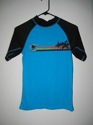 Ocean Pacific Short Sleeve Rash Guard Top - Youth Kids Size L (10-12)