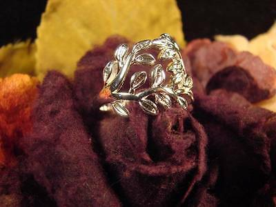 ~Beautiful Witches Beltane Sterling Silver Fertility Leaf Ring & Spell Scroll~