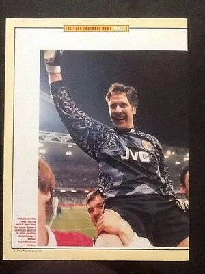 A4 Football picture/poster a Chair Lifted DAVID SEAMAN, Arsenal (1995)