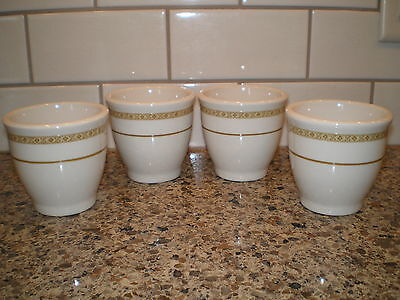 4 Shenango China Custard Bouillon Egg Cups Ramekins By Interpace T-27 Usa